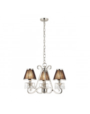 Oksana nickel 3lt pendant & black shades 40W