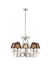 Oksana nickel 5lt pendant & black shades 40W