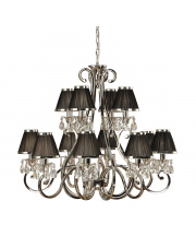 Oksana nickel 12lt pendant & black shades 40W