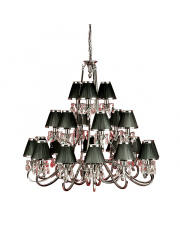 Oksana nickel 21lt pendant & black shades 40W