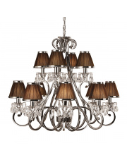 Oksana nickel 12lt pendant & chocolate shades 40W