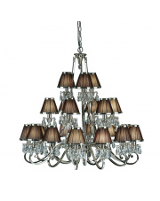 Oksana nickel 21lt pendant & chocolate shades 40W
