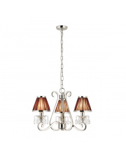 Oksana nickel 3lt pendant & chocolate shades 40W