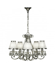 Oksana nickel 5lt pendant & white shades 40W