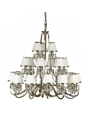 Oksana nickel 21lt pendant & white shades 40W