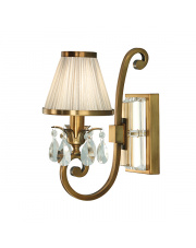 Oksana antique brass single wall & beige shade 40W