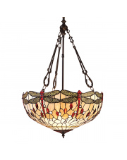 Dragonfly beige large inverted 3lt pendant 60W
