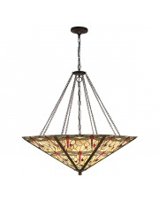 Dragonfly beige mega panel inverted 8lt pendant 60W