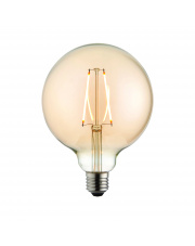 E27 LED filament globe 125mm dia 2W